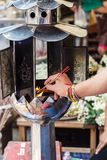 Candles for buddhism worshiping Stock Image