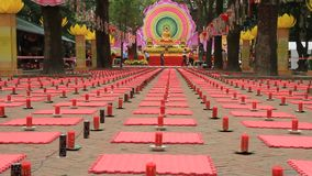 Candles in a Buddhist ceremony stock video