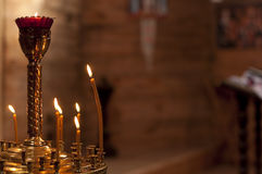 Candles burn Royalty Free Stock Photography