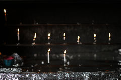 Candles burn Royalty Free Stock Images