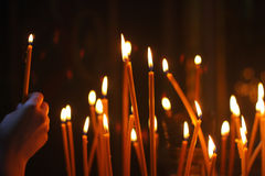 Candles burning Royalty Free Stock Photos