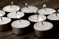Candles burning Royalty Free Stock Photo