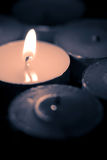 Candles burning. In the dark Stock Photography