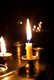 Candles  burning in the church. Candles burning in the orthodox church at night Stock Image