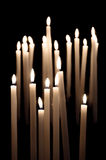 Candles burning Stock Photo