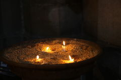 Candles burning Royalty Free Stock Images