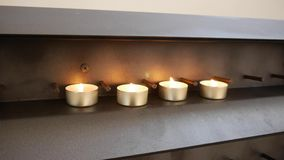 Candles burning in the church. Candles burning in the Catholic Church stock footage