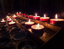 Candles burning in the dark Royalty Free Stock Images