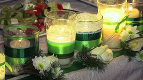 Candles Burning stock video
