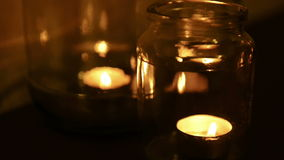 Candles Burning stock video footage