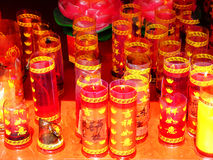 Candles burning in a temple china Royalty Free Stock Photos