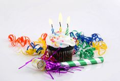 Candles in a Cake Royalty Free Stock Images