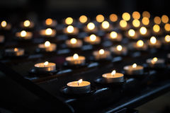 Candles. Candle in a Catholic church Stock Image
