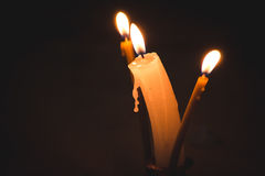 3 candles Stock Images