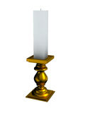 Candles and candlestick. On white background Royalty Free Stock Photos