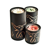 Candles with carved elephants Stock Photography
