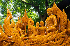 Candles ,Carving candles. Carving candles to give as offerings to Buddha Royalty Free Stock Photos