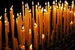 Candles a catedral Milão Italy Fotografia de Stock