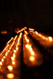 Candles in a cathedral Stock Photography