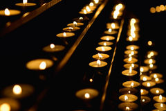 Candles in Cathedral Royalty Free Stock Photos