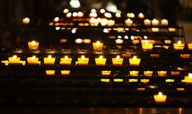 Candles in the cathedral Royalty Free Stock Image