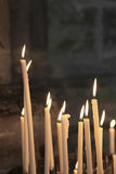 Candles in the Cathedral of Reims Stock Photos