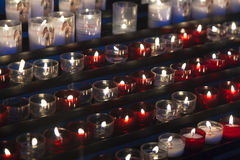 Candles in the Cathedral of Reims Royalty Free Stock Photos