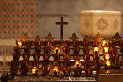 Candles in cathedral of st. Patrick Royalty Free Stock Image