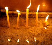 Candles in Cathedral, Varna - Bulgaria Royalty Free Stock Photo