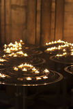 Candles in the catholic church Royalty Free Stock Images