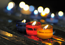 Candles in catholic church Stock Photo