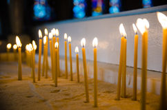 Candles the Catholic Church, shallow depth of field Stock Photo