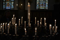 Candles. In Catholic church, Sweden Royalty Free Stock Photography