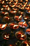 Candles in a Chinese Temple Royalty Free Stock Images