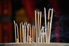 Candles in a Chinese temple Royalty Free Stock Photos