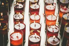 Candles from chinese temple royalty free stock photos