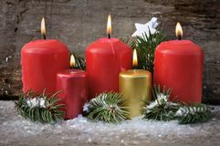 Candles for Chistmas Eve Royalty Free Stock Image
