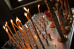 Candles in Christian Church Stock Photos