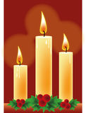 Candles christmas Stock Photos