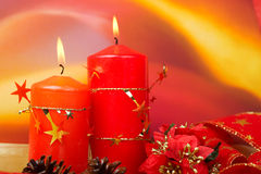 Candles of Christmas Stock Photo