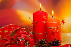 Candles of Christmas Stock Image
