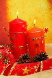 Candles of Christmas Royalty Free Stock Images