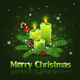 candles christmas διανυσματική απεικόνιση