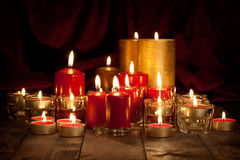 Candles - christmas decoration Stock Photo