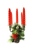 Candles and Christmas decorations Royalty Free Stock Photos