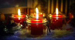 Candles, Christmas Eve Royalty Free Stock Images
