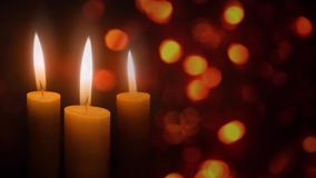 Candles in the Christmas Lights 4K Loop