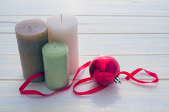 Candles and Christmas Royalty Free Stock Image