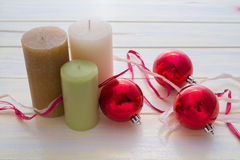 Candles and Christmas Stock Photos