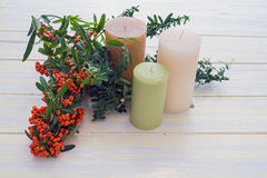 Candles and Christmas Stock Images